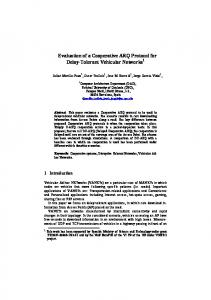 Evaluation of a Cooperative ARQ Protocol for