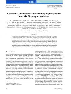 Evaluation of a dynamic downscaling of ... - Wiley Online Library
