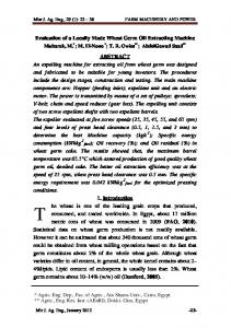 Evaluation of a Locally Made Wheat Germ Oil ...
