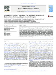 Evaluation of a multiplex real-time PCR kit Amplidiag ... - Mobidiag