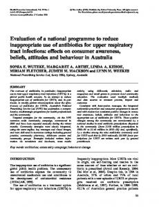 Evaluation of a national programme to reduce inappropriate use of ...