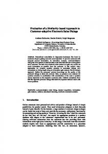 Evaluation of a Similarity-based Approach to