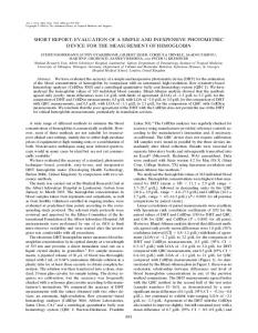 EVALUATION OF A SIMPLE AND INEXPENSIVE PHOTOMETRIC ...