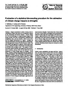 Evaluation of a statistical downscaling procedure for the estimation of ...
