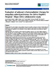 Evaluation of adjuvant chemoradiation therapy for ampullary ...