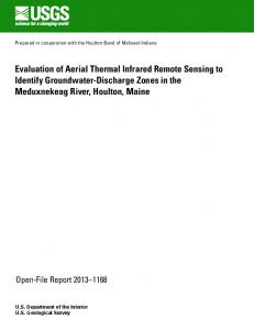 Evaluation of Aerial Thermal Infrared Remote Sensing to Identify ...