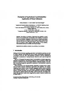 Evaluation of Agricultural Land Suitability: Application of ... - USDA ARS