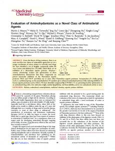 Evaluation of Aminohydantoins as a Novel Class of ... - ACS Publications