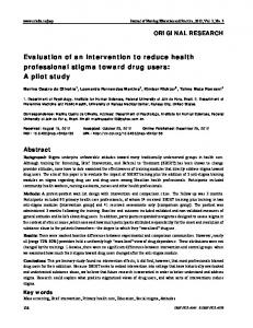 Evaluation of an intervention to reduce health professional stigma