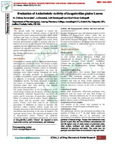 Evaluation of Anthelmintic Activity of bougainvillea ...
