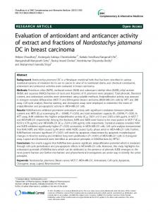 Evaluation of antioxidant and anticancer activity of ... - Semantic Scholar