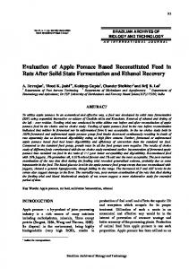 Evaluation of Apple Pomace Based Reconstituted Feed in ... - SciELO