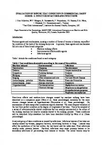 EVALUATION OF BOVINE TEAT CONDITION IN COMMERCIAL ...