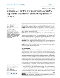 evaluation of central and peripheral neuropathy in
