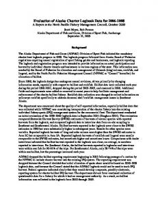 Evaluation of Charter Halibut Logbook Data - North Pacific Fishery ...