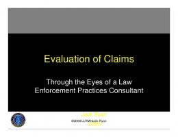 Evaluation of Claims