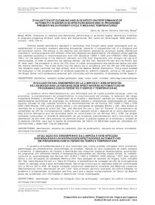 evaluation of cleaning and disinfection performance of ... - Scielo.br