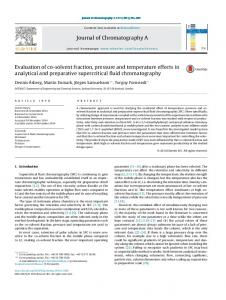 Evaluation of co-solvent fraction, pressure and temperature effects in ...