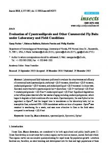 Evaluation of Cyantraniliprole and Other ... - Semantic Scholar