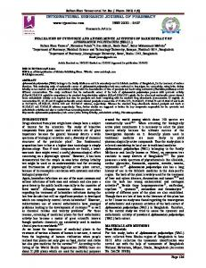 evaluation of cytotoxic and anthelmintic activities of bark extract of ...