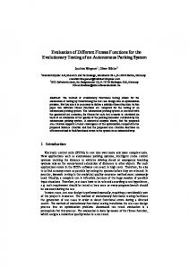 Evaluation of Different Fitness Functions for the Evolutionary Testing of ...