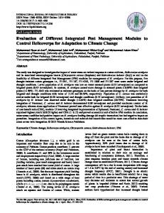 Evaluation of Different Integrated Pest Management Modules to ...