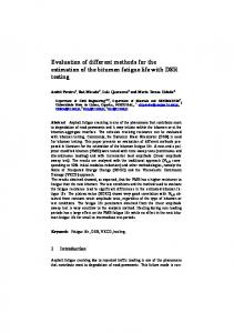 Evaluation of different methods for the estimation of the bitumen
