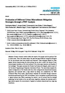 Evaluation of Different Urban Microclimate ... - Semantic Scholar