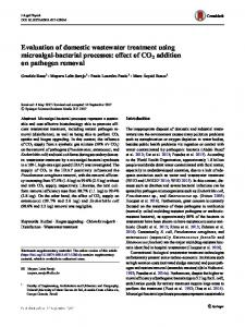 Evaluation of domestic wastewater treatment using microalgal ...