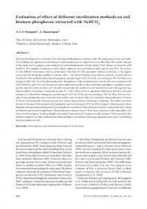 Evaluation of effect of different sterilization methods on soil biomass ...
