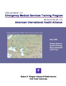 Evaluation of Emergency Medical Services Training Centers