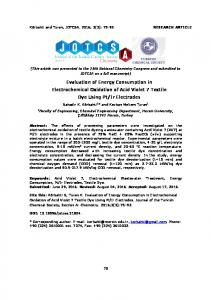 Evaluation of Energy Consumption in Electrochemical ... - DergiPark