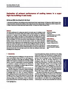 Evaluation of exhaust performance of cooling towers in ... - Springer Link