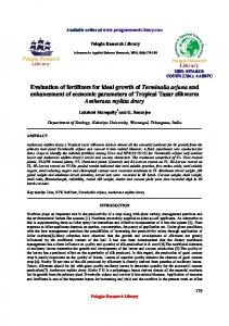 Evaluation of fertilizers for ideal growth of Terminalia arjuna ... - iMedPub