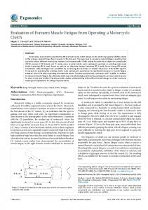 Evaluation of Forearm Muscle Fatigue from Operating ...