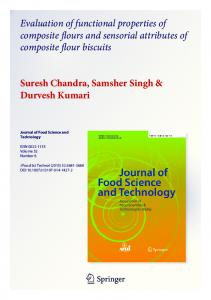 Evaluation of functional properties of composite flours