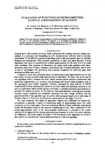 EVALUATION OF FUNCTIONS ON MICROCOMPUTERS: RATIONAL ...