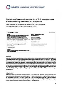 Evaluation of gas-sensing properties of ZnO nanostructures ...