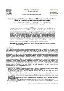 Evaluation of geochemical behavior and heavy metal
