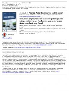 Evaluation of groundwater-based irrigation systems using a ... - WG-ENV