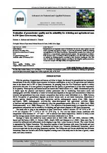 Evaluation of groundwater quality and its suitability for ...