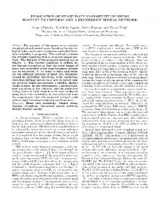 EVALUATION OF HEART RATE VARIABILITY BY ... - Semantic Scholar