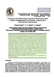 Evaluation of Heavy Metals Toxicity of