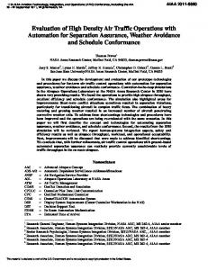Evaluation of High Density Air Traffic Operations with Automation for