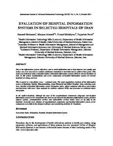 evaluation of hospital information systems in selected ...