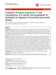 Evaluation of human enterovirus 71 and ... - BioMedSearch