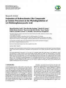 Evaluation of Hydrocalumite-Like Compounds as Catalyst Precursors ...