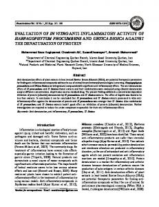 evaluation of in vitro anti-inflammatory activity of ...