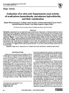 Evaluation of in vitro anti-Trypanosoma cruzi activity of medications