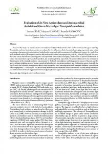 Evaluation of In Vitro Antioxidant and Antimicrobial Activities of Green ...